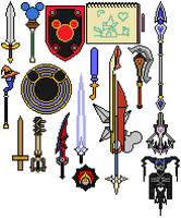 Other Weapons of Kingdom Hearts by Shadows-Twilight
