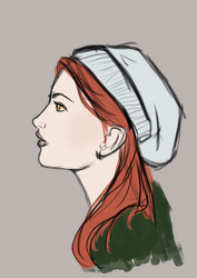 Winter girl by Ombreuse