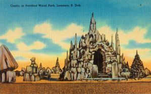 Vintage South Dakota - Castle, Petrified Wood Park by Yesterdays-Paper