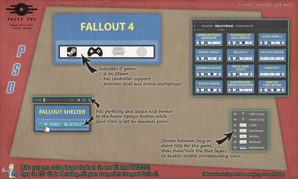 Custom Steam Grid : Fallout / Vault Tec (PSD) by DarthWound