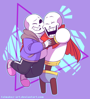 The Skele-Bros { + Speeddraw } by FALMAKEZ-ART