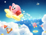 Kirby on the Go by CosmikArts