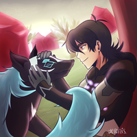 Keith and his Cosmic Wolf by Yelonis