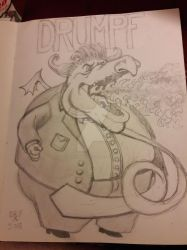 Drumpf the Dragon is going down by DoctorFantastic