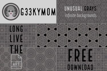Unusual Grays - Infinite Background Tiles by g33kym0m