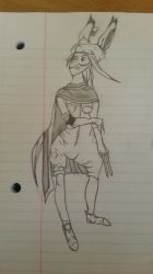 FFTA Sketch - Viera Assassin by icecoldmice