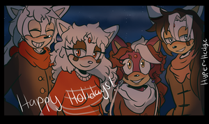 Happy Holidays from the Evans by Hyper-Hedgie