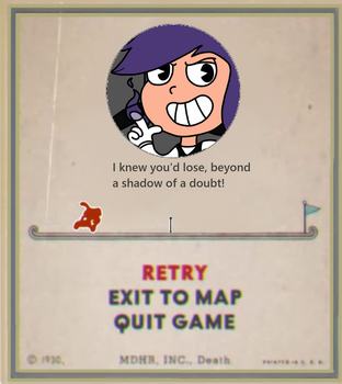 Shadow Link Game Over Card by 4swords4ever