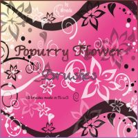 Popurry Flowers Brushes by Coby17
