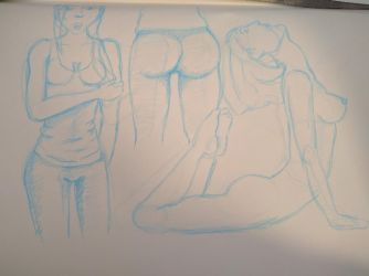 Booty Sketches by buffydoesbroadcast