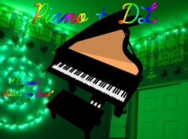 MMD - Piano + DL by RoseBeri