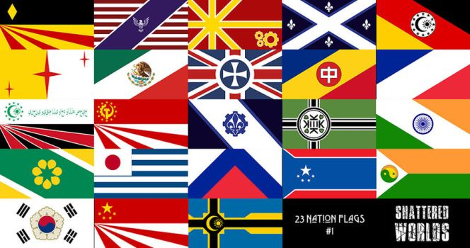 Shattered Worlds   Alternate Nation Flags #1 by CaptainTronny