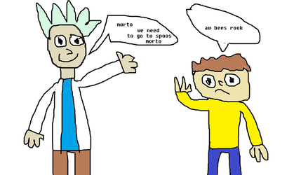 Bootleg Rick And Morty by meatpie2259
