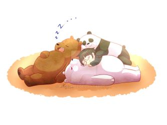 Napping Time - We Bare Bears by pbCrumbz