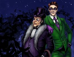 Riddler and Penguin by Salamandra88