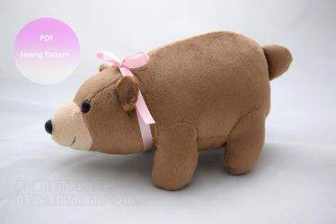 Chubby Bear - Pattern Available Now! by PlanetPlush