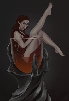Melisandre pin-up by elyhumanoid