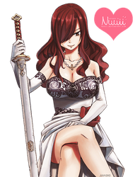 Render #48 - Erza Scarlet (Fairy Tail) by Nuuii
