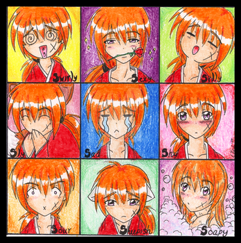 Expressions of a Samurai by LeahCK