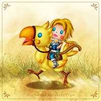 Chocobo Ride! by Azurelly