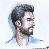 Portrait of Adam Levin by lazy-brush