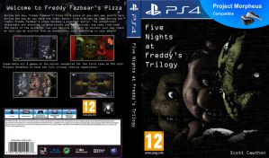 Fan-made Five Nights at Freddy's Trilogy PS4 cover by Playstation-Jedi
