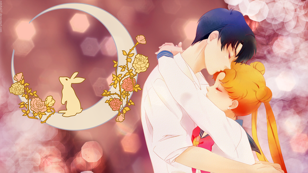 Sailor Moon: Usagi and Mamoru by Mitche27