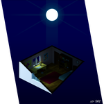 Isometric - Bed Room 1 - Night by ErikServin