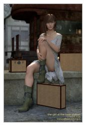 the girl at the train station by RGUS