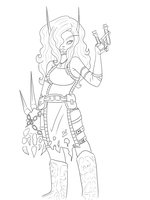 Kel'thanis +Lineart+ by Bluence