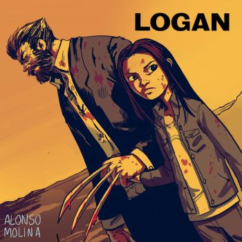 Logan and Laura fan art. by alonsomolina1985