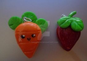 carrot and strawberry by PenguinEsk