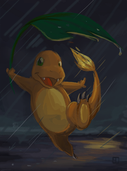 Charmander-Dancing in the Rain by chanimated