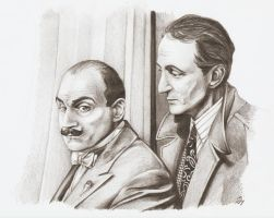Poirot with Hastings by CeskaSoda
