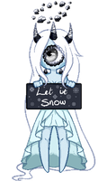 [COMM] Snow Queen pagedoll by PeachThePlum