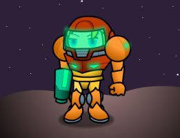 Samus is on the moon by BradRedfield