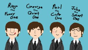 The Fab Four...according to their titles by LittleRainySeasons