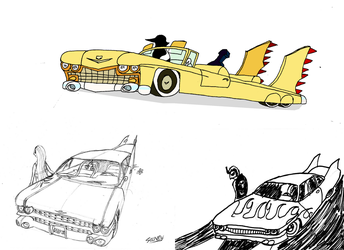 Cadillac Drawing Collection by Silnev