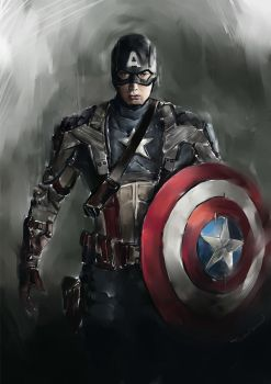 Steve Rogers, Captain America by novicekid