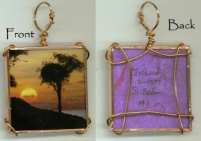 Island Sunset Pendant 1 by wiyaneth