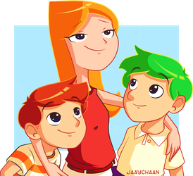 Phineas and Ferb by jaaychaan