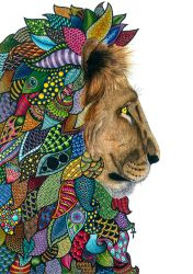 Lion in Colors by poreen