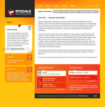 Ryedale Swimming Club Concept by weyforth