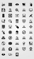 Computer and internet - ICON PACK by doghead