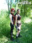 Lara Croft and Doppel by SeleneVirus