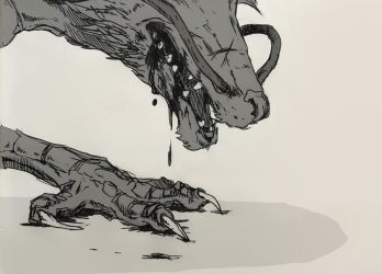 INKTOBER6 - Drooling by synderen