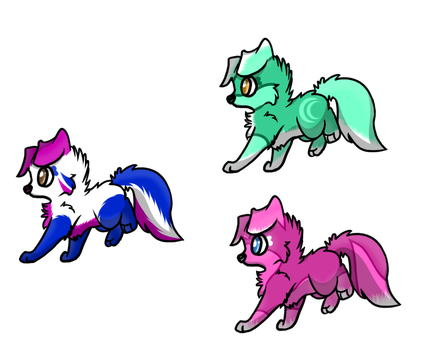 Puppy Adoptables -Closed!- by RoxyAbsinthe