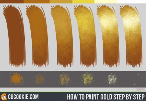 Gold Step by Step tutorial by CGCookie