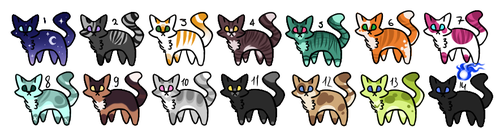 Cat Adoptable [ CLOSED ] 1-5 points. by Cute-Adopt01