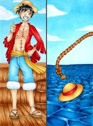 :COMM: Luffy Bookmark by Lexou-chan